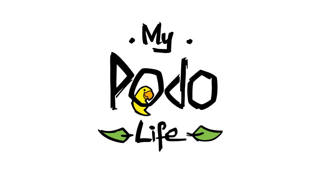 Branding & Maskottchen der App My Podo Life