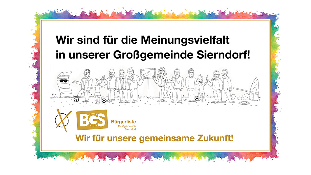 Kampagne für BGS Bürgerliste Ggm Sierndorf