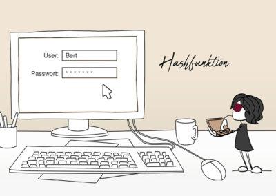 Maskottchen & Zeichentrick für Datenbeschützerin Regina Stoiber